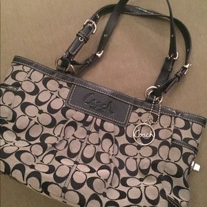 Coach Signature Canvas and Leather Tote